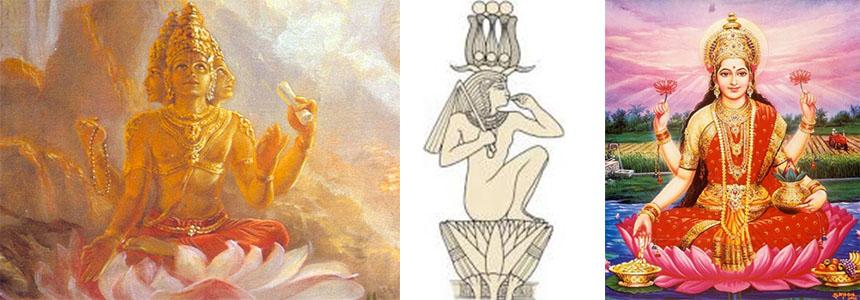 Bohové v lotosu - Brahma, Horus, Tárá