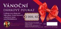 Vánoční poukaz 2 000 Kč