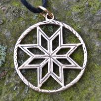 Amulet slovanský - Alatyr - Hvězda Boha Roda