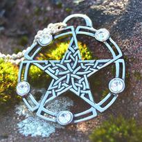 Amulet Keltský pentagram - Bílá Hvězda