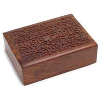 Dřevěná krabice na andělské karty, Angel Cards
