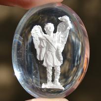 Archanděl Uriel v kameni