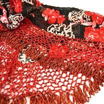 Šátek na břišní tanec velký korálkový
