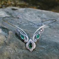 Fantasy čelenka Lesní elf - zelená