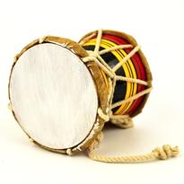 Bubínek indický Damaru barevný 10 cm