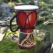 Bubínek Djembe barevný Bali 15 cm