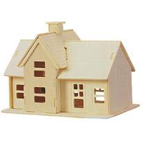 Domeček - 3D dřevěné puzzle