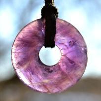 Donut kulatý 30 mm - ametyst