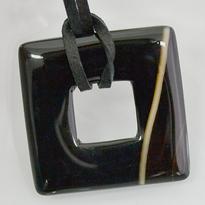Donut čtvercový 30 mm - onyx