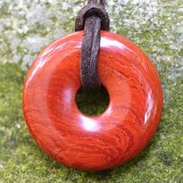 Donut kulatý 30 mm - jaspis červený