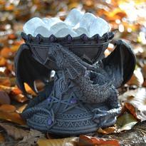 Dračí mísa - stojánek - svícen - Fialové kouzlo
