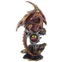 Fantasy soška - Síla draka - růžová