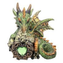 Fantasy soška - Dračí srdce - zelený
