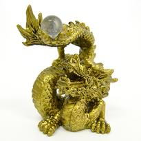 Soška drak štěstí s perlou