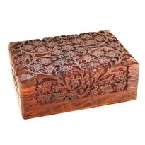 Dřevěná krabice - šperkovnice - Květiny