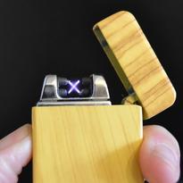 Elektrický zapalovač MATRIX USB - design dřevo