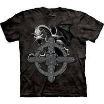 Fantasy tričko - Černý drak - Pán kříže S