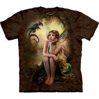 Fantasy tričko - Víla a drak S