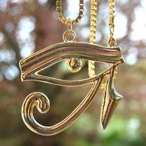 Faraonský náhrdelník - Zlaté Horovo Oko