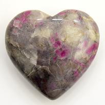 Feldspar - broušené srdce 50 - 60 mm