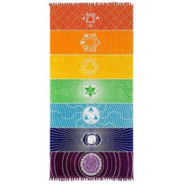 Šátek - přehoz Čakrový