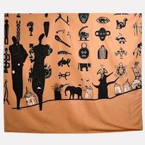 Šátek - přehoz Africa