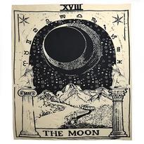 Šátek - přehoz Tarotová karta Měsíc