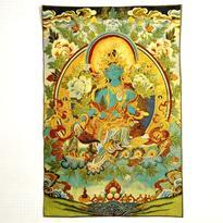 Tkaný gobelín Tibet - Zelená Tara Matka časů