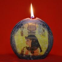 Svíčka bohyně Hathor profil disk