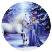 Hodiny - Bílý jednorožec a zimní královna