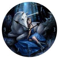 Nástěnné hodiny fantasy - Modrý měsíc