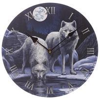 Nástěnné hodiny Vlčí bojovníci