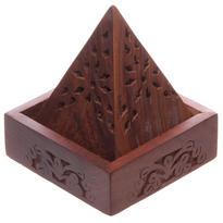 Stojánek na vonné kužely - Dřevěná pyramida