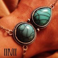 Šamanský náramek IINII - Tyrkenit