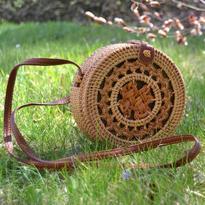 Kabelka IINII Etno - Oromo natural zdobená