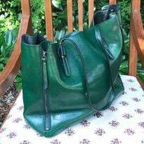 Kabelka IINII Glamour - Arica smaragd