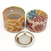 Kadidelnice mastek s kovovou mřížkou - Floral