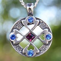 Amulet Keltský kříž Srdce