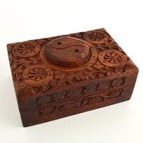 Krabička na tarotové karty se symbolem Jin-Jang