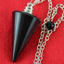 Kyvadlo - jaspis černý, kužel