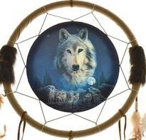 Lapač snů - duch vlka, 34 cm