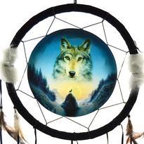 Lapač snů - kosmický vlk, 34 cm