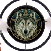 Lapač snů - vlk, 16 cm
