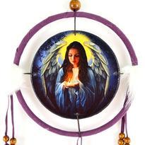 Lapač snů - Andělské světlo 16 cm, fialový