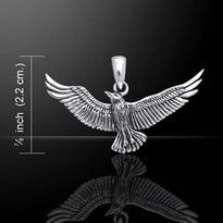 Přívěsek Vzlétající pták, stříbro Ag 925