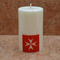 Svíčka Maltézský kříž 6 x 10 cm
