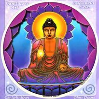 Mandala na sklo fantasy - Buddha