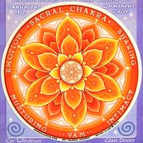 Mandala na sklo čakrová - 2. čakra Swadhisthana