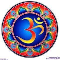 Mandala na sklo - Cosmic ÓM - velká Sunseal