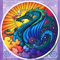 Mandala na sklo fantasy - Dračí Sen